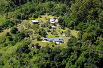 A birds-eye view of the property